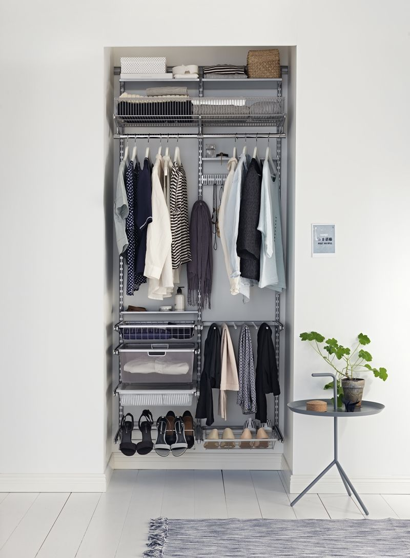 Getting organized with ELFA  Alcove wardrobe, Small wardrobe