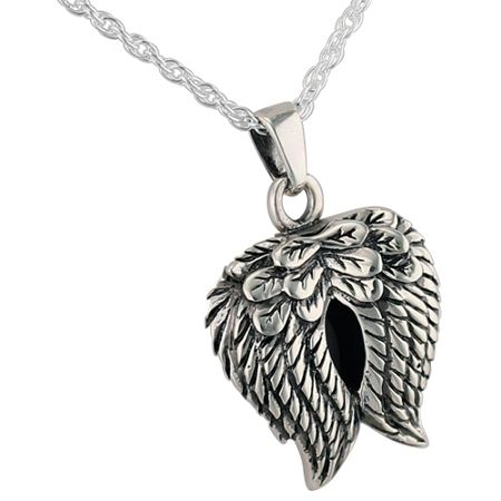 Angel wings pendant and necklace for ashes angel wing pendant angel wings pendant and necklace for cremation ashes aloadofball Images