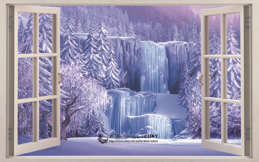 Disney Frozen Waterfall 3D Wall Decals