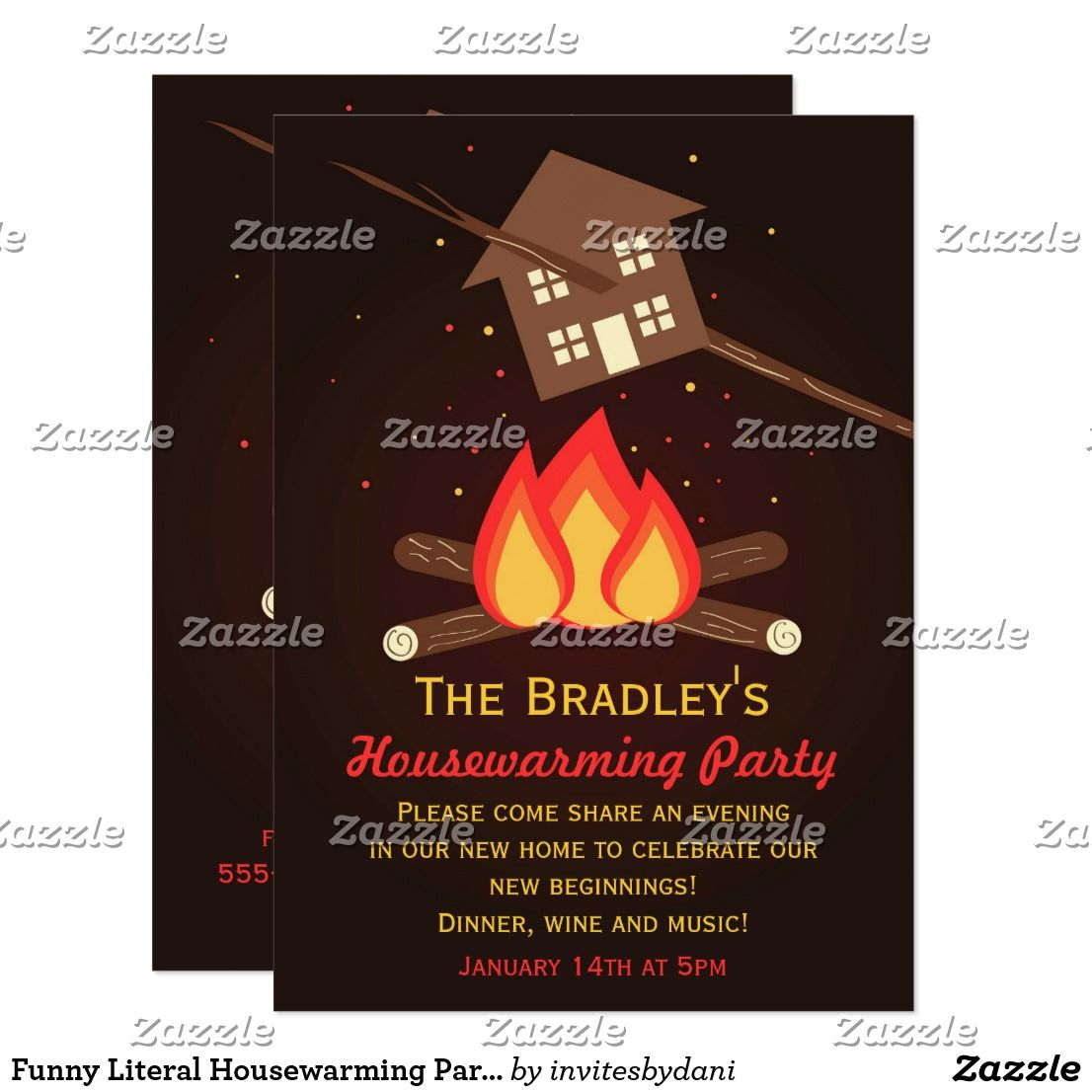 Funny Literal Housewarming Party Invitations   Housewarming ...