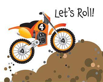 Dirt bike birthday party invitation for kids pojazdy i loga dirt bike birthday party invitation for kids filmwisefo