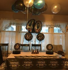 40th birthday decorations for him entertaining Pinterest 40