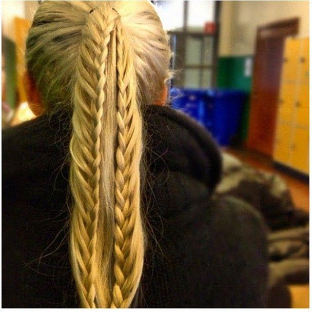 lace braids on pony