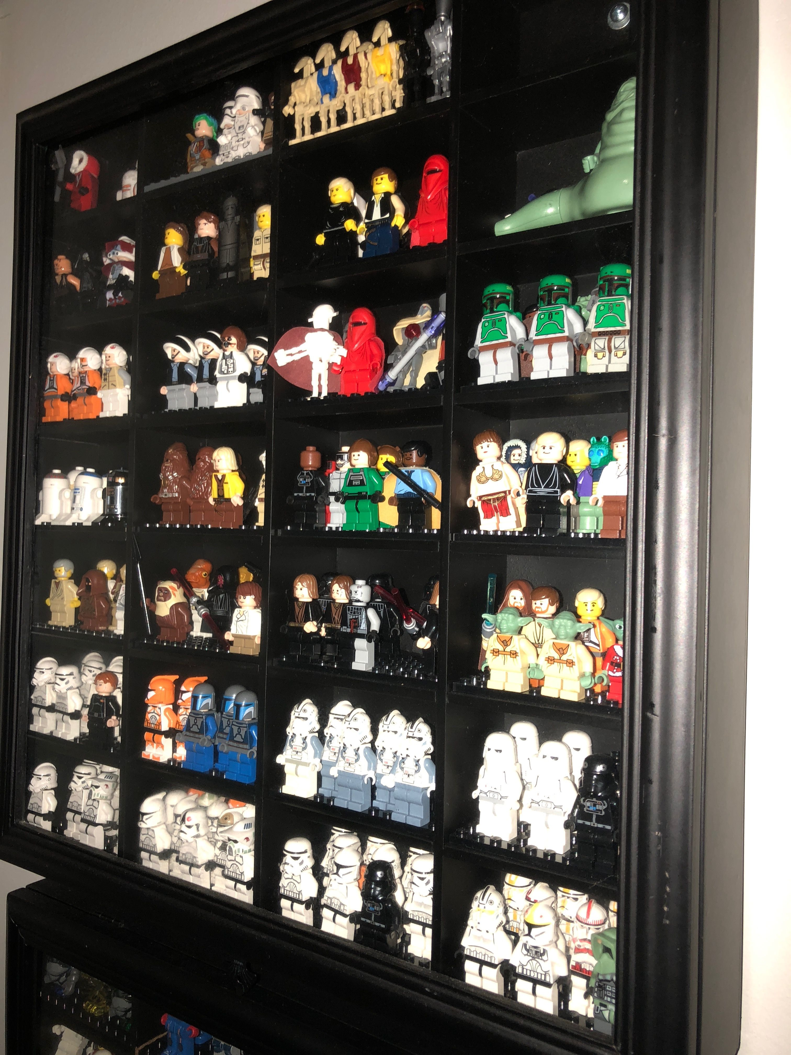 LEGO mini figures storage shot glass display cabinet from Michaels