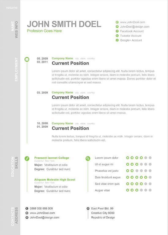 1 Page Resume Interesting Modernonepageresume  Ideas For The House  Pinterest  Modern