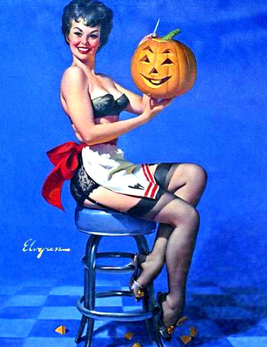 halloween pin upgil elvgren | tis the season | pinterest | gil