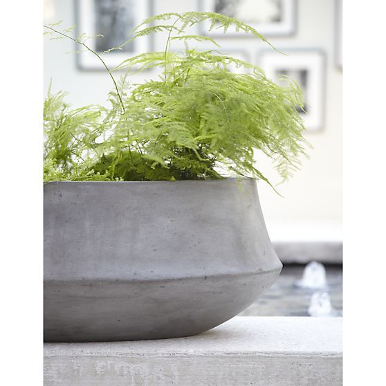 Nairobi Oval Planter Crate And Barrel Planters Stone 400 x 300