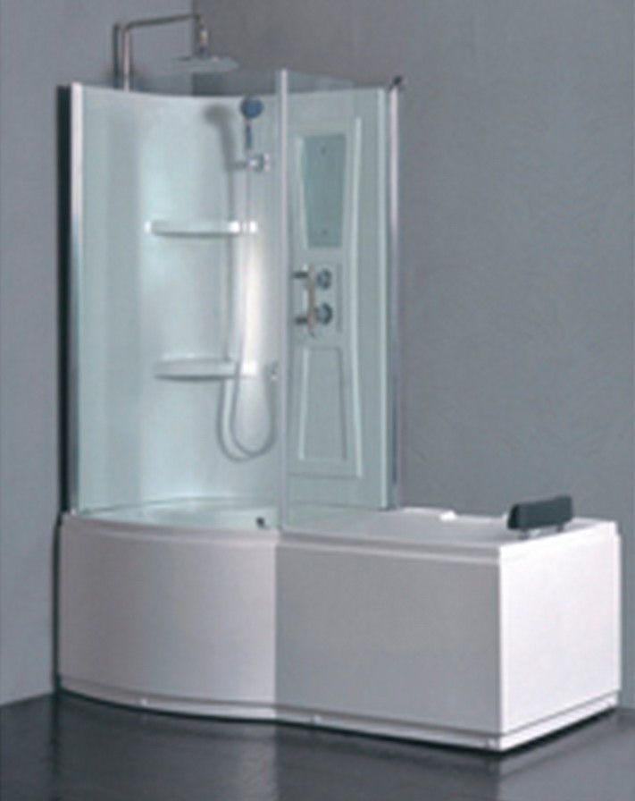 Whirlpool tub and shower combo with surround corner for Corner jacuzzi tub shower combo