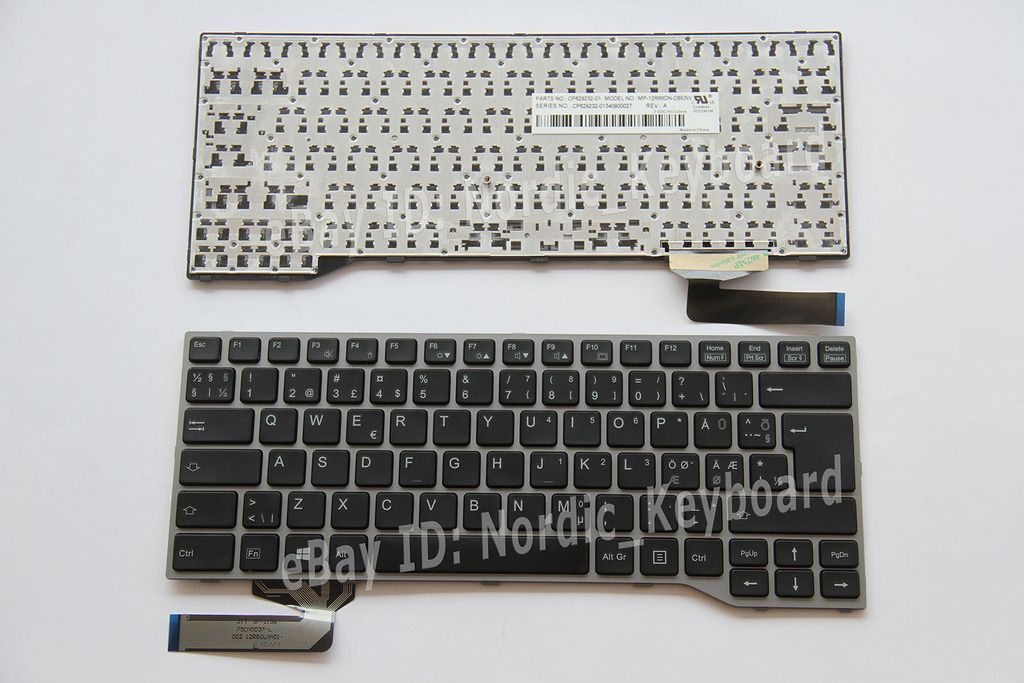 Fin Norsk Scandinavian Nordic Keyboard For Fujitsu Lifebook E733 E734 E743 E744 Keyboard Nordic Book Of Life