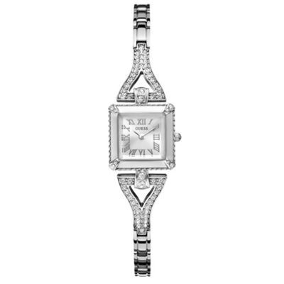 Guess Ladies' silver diamante square dial watch- my new watch on its way!