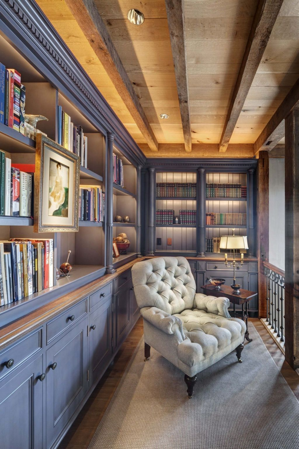 25 Cozy Small Home Library Design Ideas That Will Blow ...