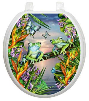 Frogs In The Moonlight Toilet Seat That S Exactly What My Toilet Needs Wouldn T Go With Anything In My Bathroom Novelty Toilet Seats Frog Decor Toilet Seat