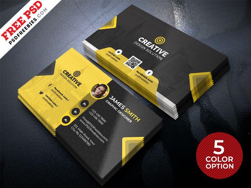Free Business Card Design Templates PSD | Business card design ...
