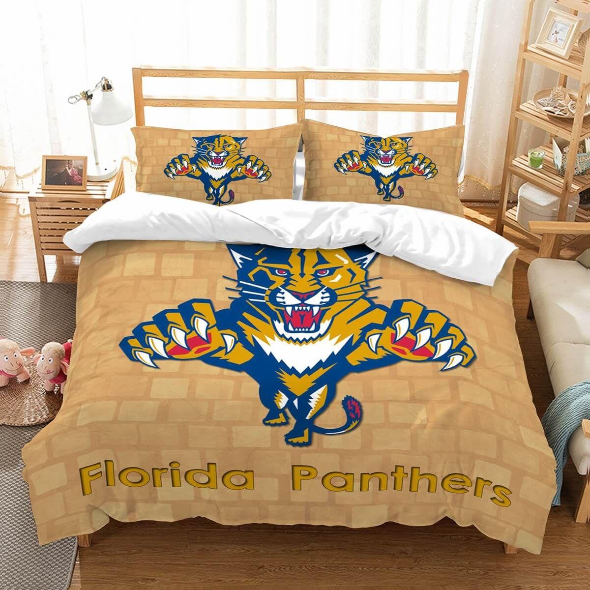 3D Customize Florida Panthers Bedding Set Duvet Cover Set