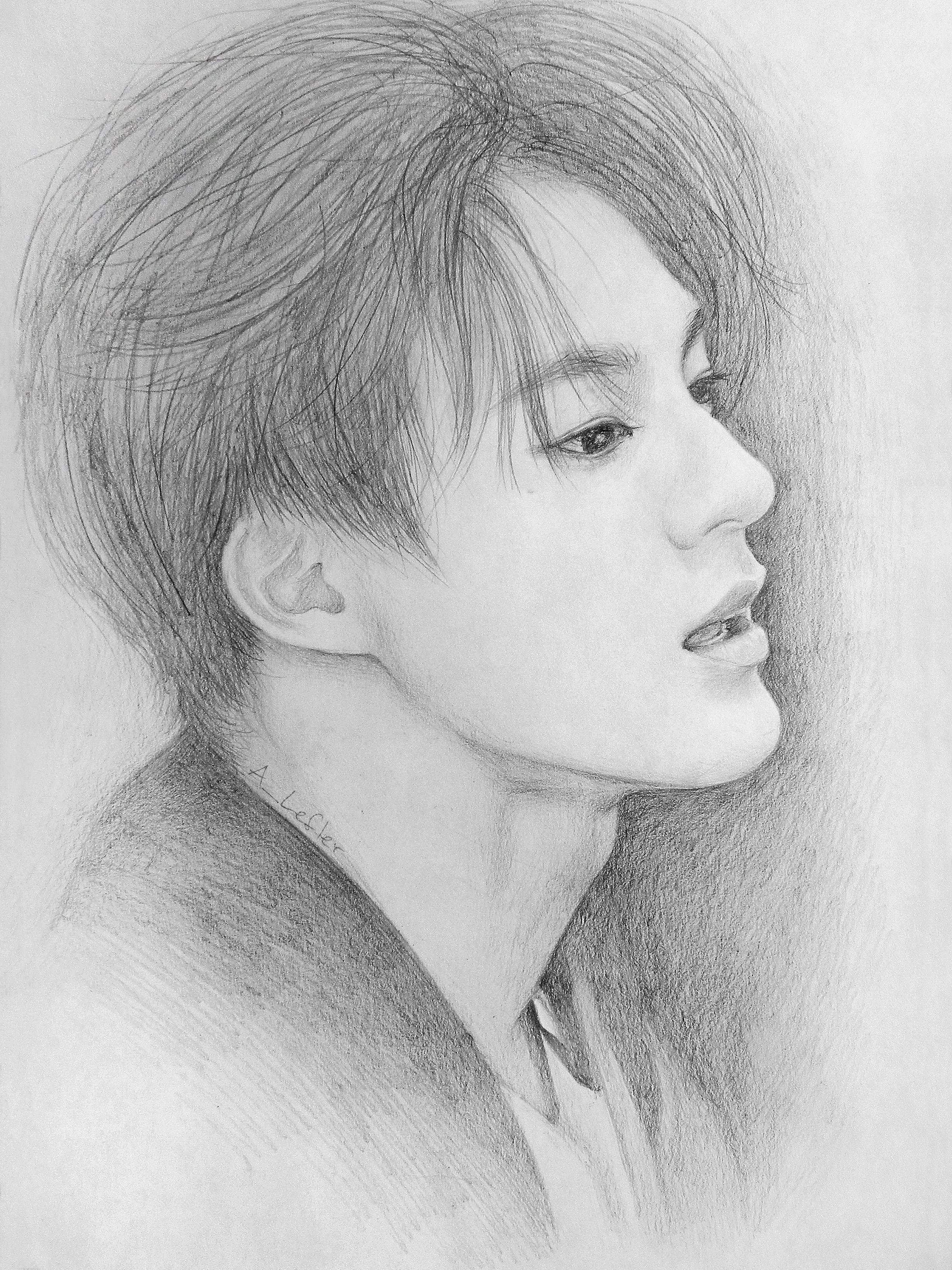Jeno NCT Dream   Lukisan mudah, Lukisan wajah, Sketsa