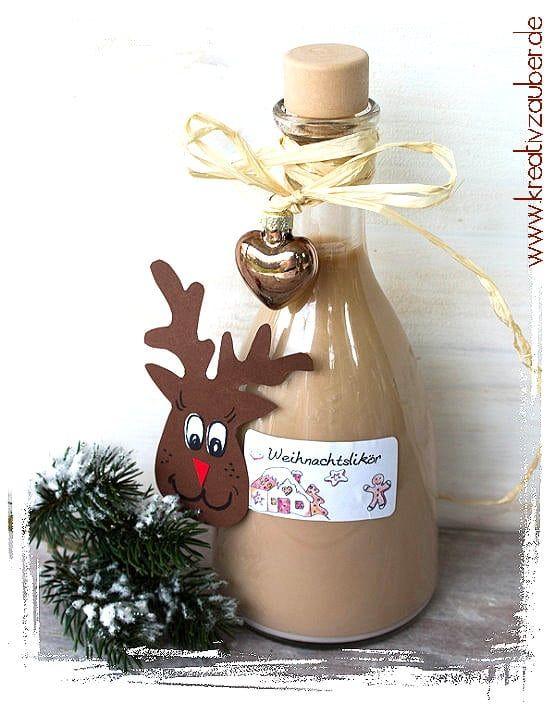 Last Minute Geschenk Idee ★ Weihnachtslikör ★ Kreativzauber