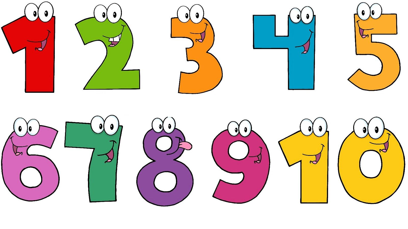 Pictures of Number 1-10 | Free printable numbers, Printable ...