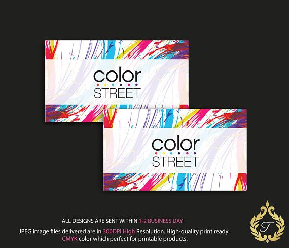 Color Street Business Card Personalized Color Street Business Card