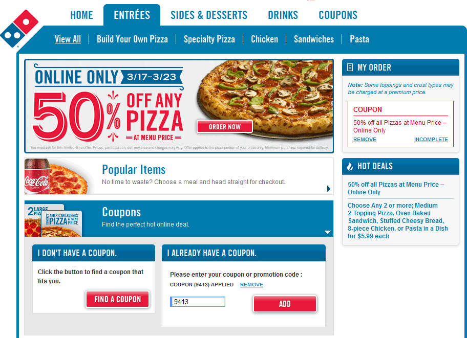 dominos voucher coupon codes