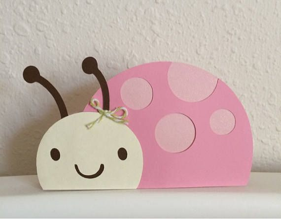 Pink Ladybug Picnic Birthday Card Invites Invitations