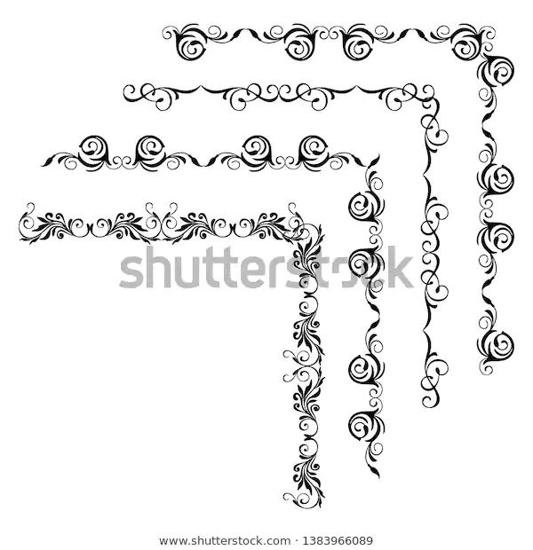 Decorative Monograms Calligraphic Borders Template Signage Stock Vector (Royalty Free) 1383966089