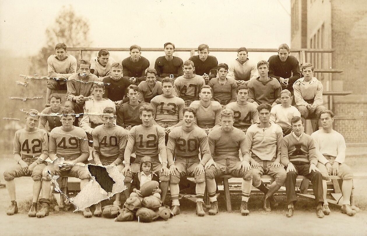 Dads little league football team in alderson west