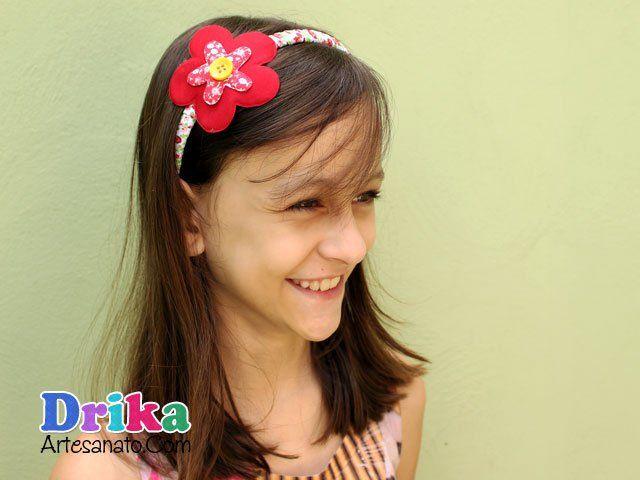 Faça uma Tiara com Flor de Tecido bem fácil • Drika Artesanato - O seu Blog de Artesanato!