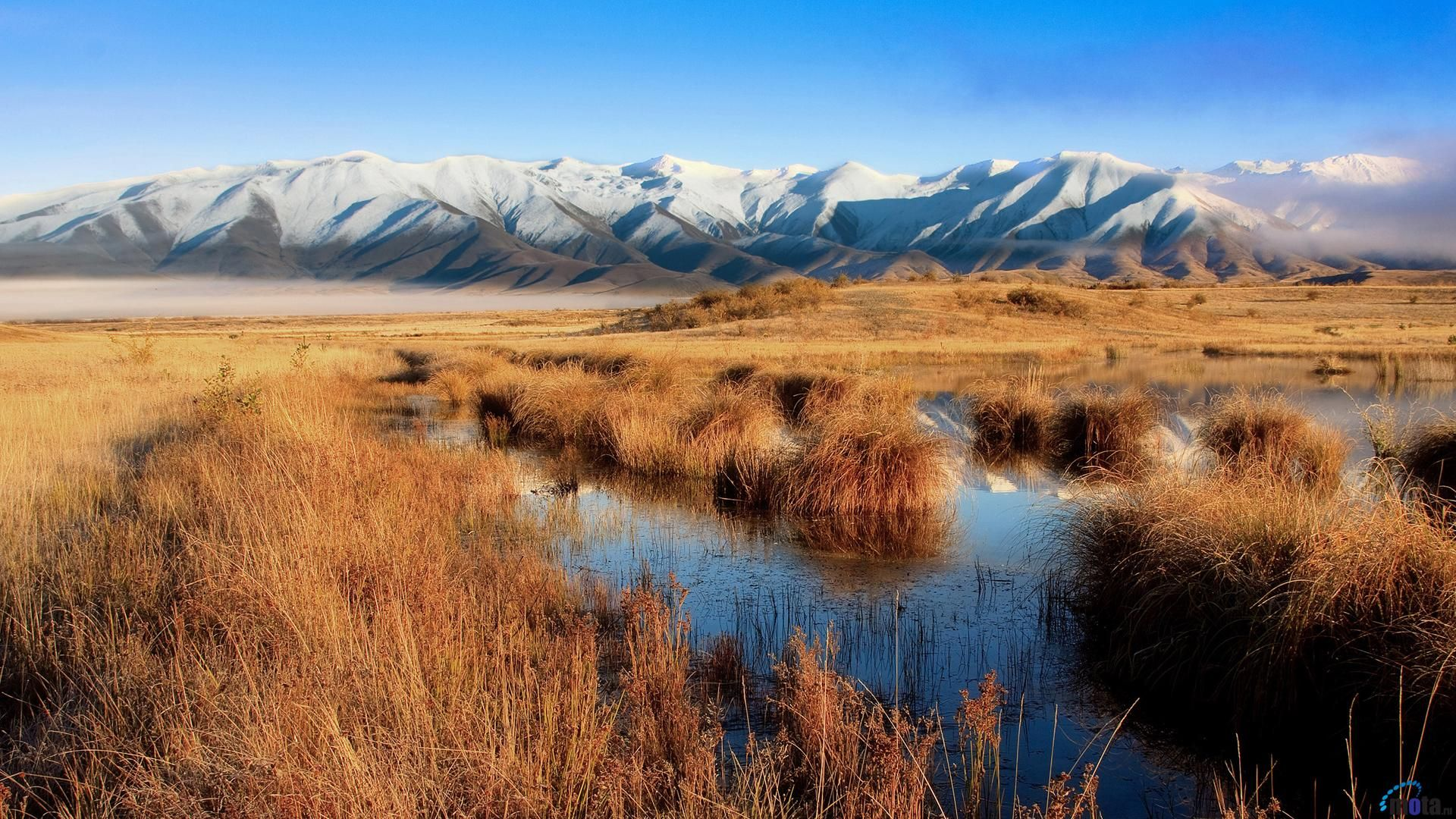 best background wallpapers reddit: Lake Poaka Twizel New Zealand Wallpaper [1920 X 1080