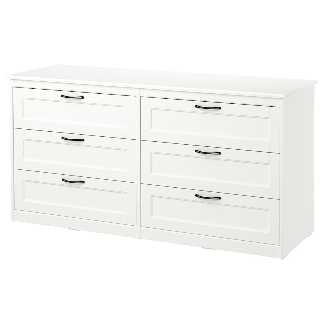 Songesand 6 Drawer Dresser White 63 3 8x31 7 8 Hemnes 8