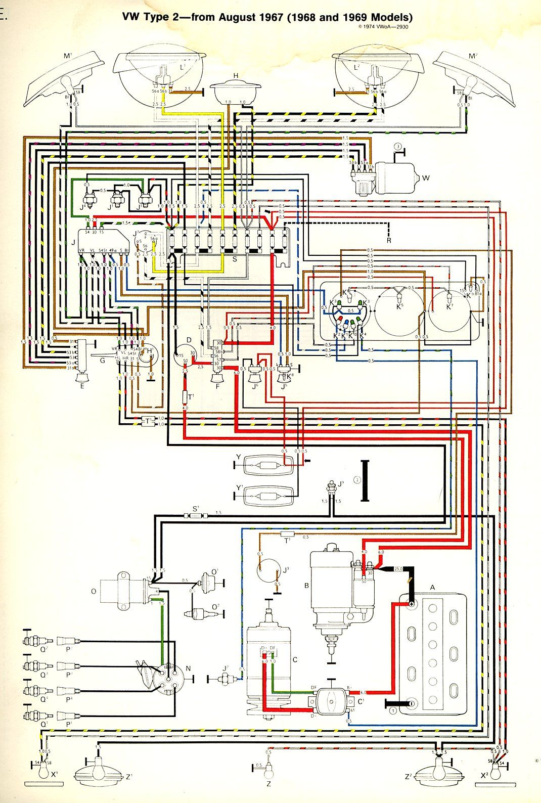 engine diagram 1974 vw bus camper [ 1070 x 1588 Pixel ]
