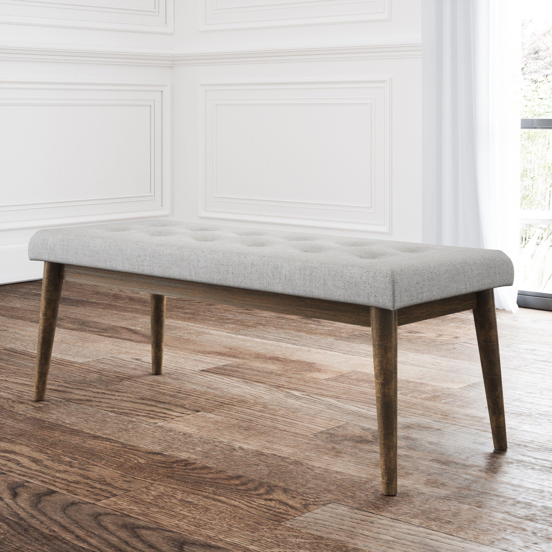 grey tufted vanity chair