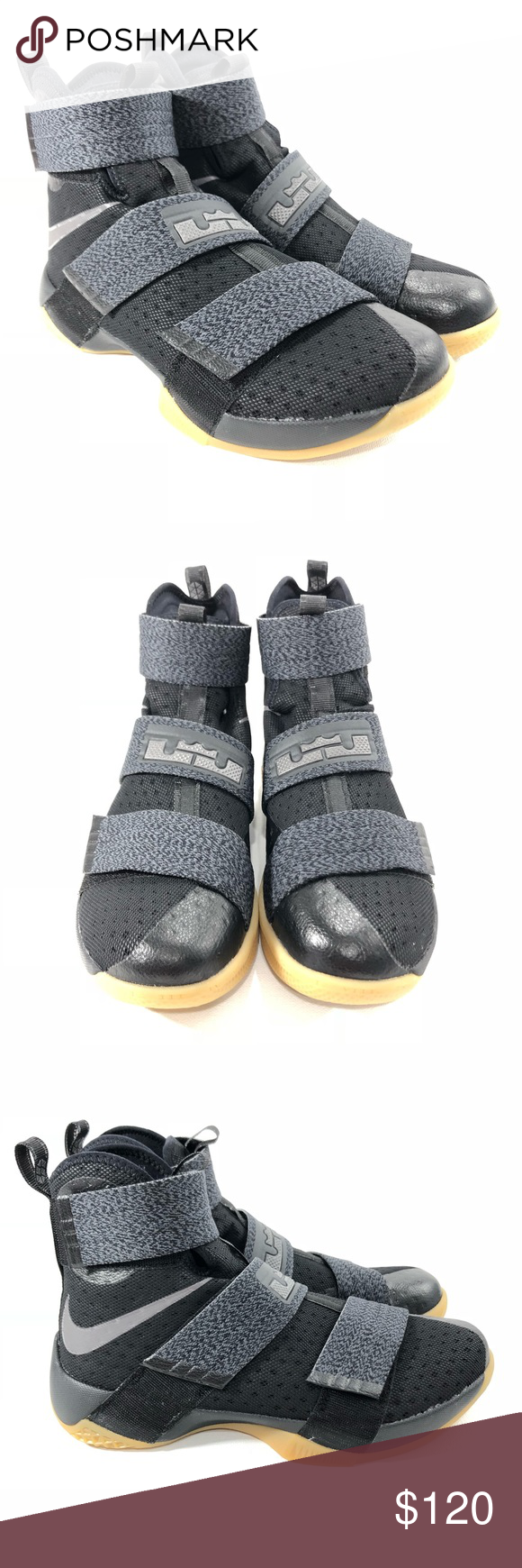 fe3810c0371 Nike LeBron Soldier 10 CAVS Final Game 7 SFG Nike LeBron Soldier 10 Black  Gum CAVS Final Game 7 SFG Champion Style  844378-009 Size  9 NO BOX  INCLUDED Nike ...