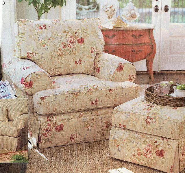 Print Overstuffed Chair Overstuffed Chairs Farm House