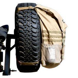Trasharoo Off Road Spare Tire Trash Utility Bag Black Trash Bag Overland Gear Wrangler Accessories