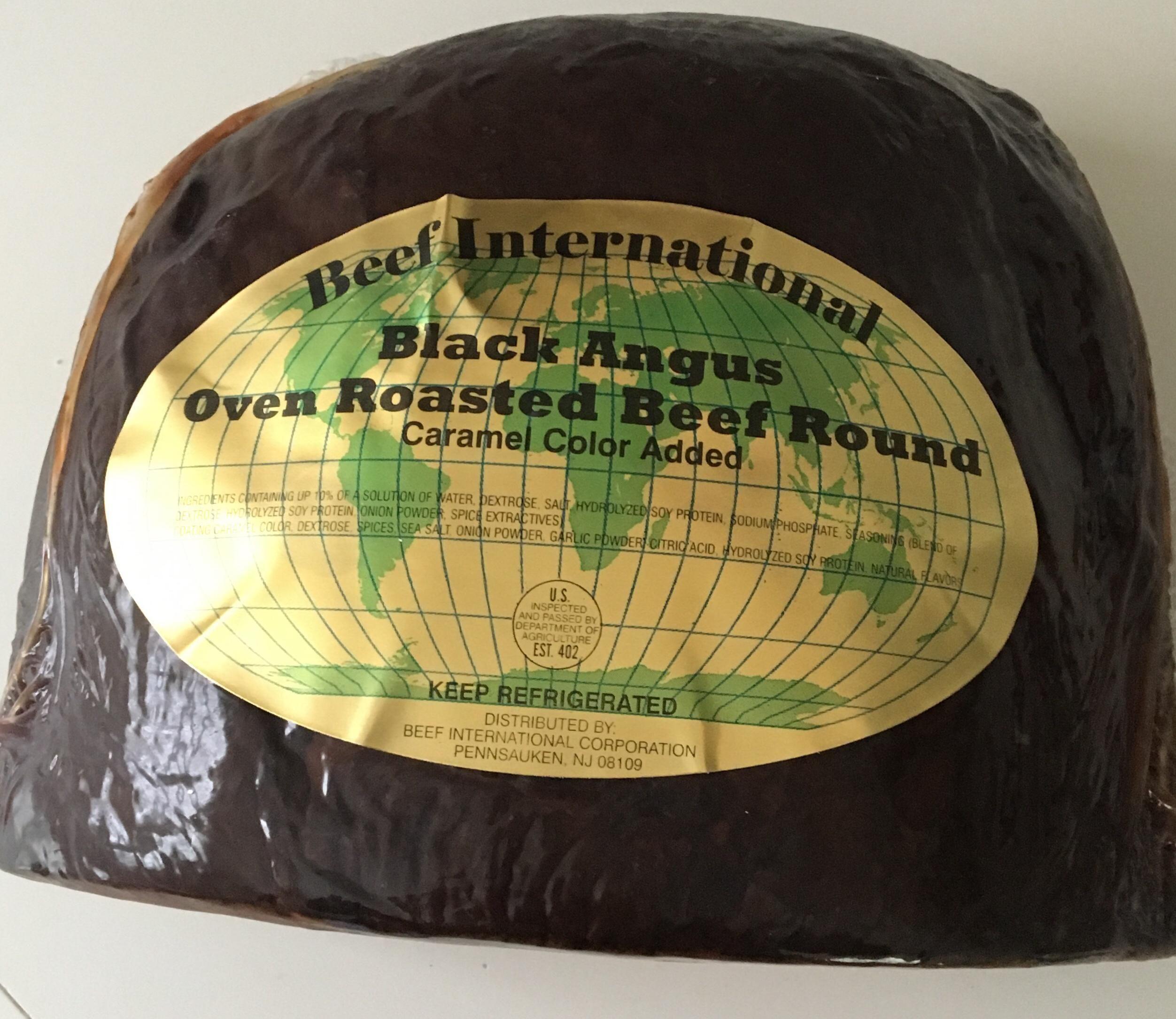 Black angus roast beef that is cooked in pennsauken new