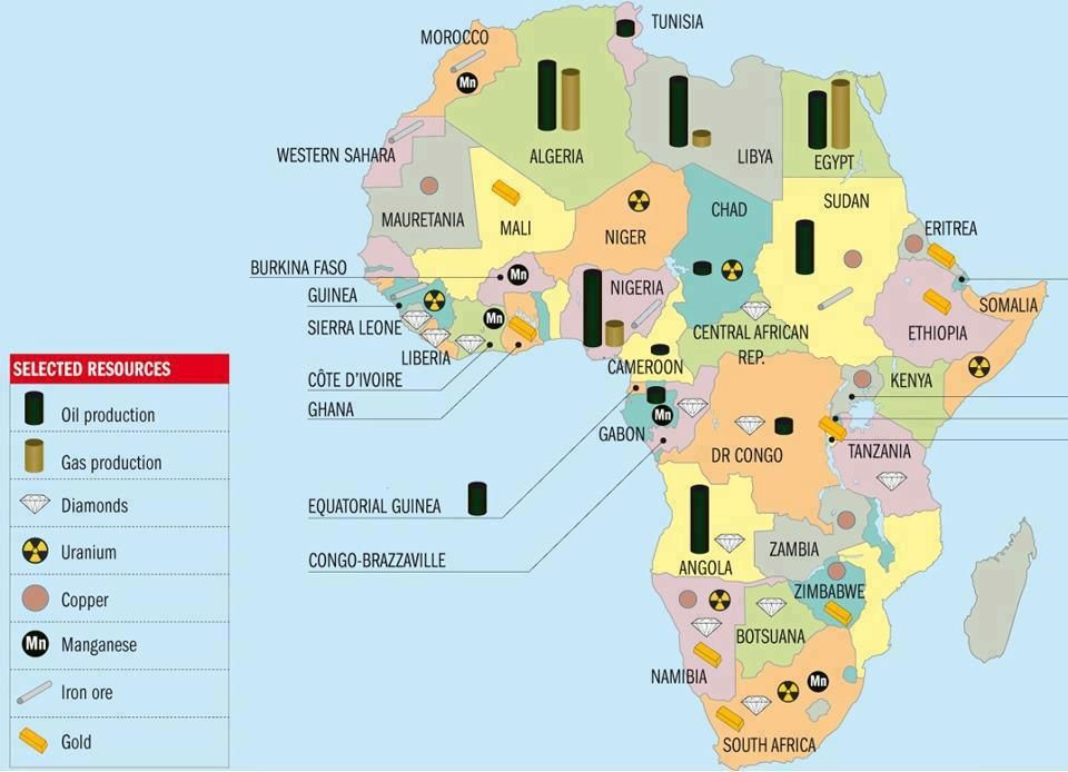 Resource Map Of Africa Transparency Archives   ONE | Africa map, Natural resources, Africa