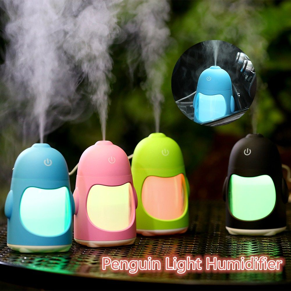 2018 Air Humidifier Essential Oil Aroma Diffuser Ultrasonic Humidifier Portable USB Cool Mist Maker with Night Light for Baby Room Car