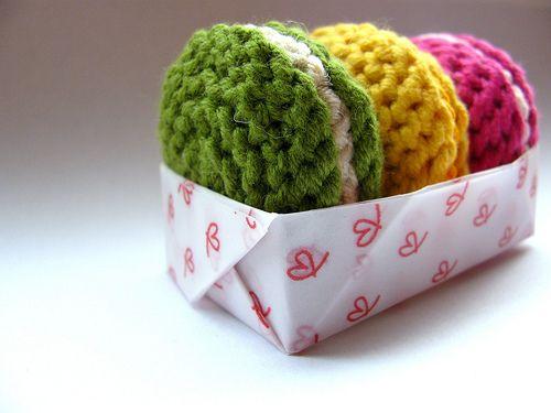 Macarons in crochet - genius!