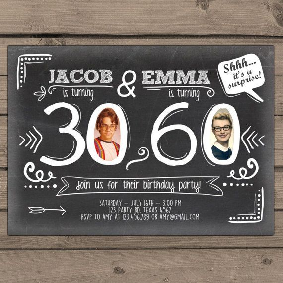Joint Birthday Invitation Adult By Anietillustration