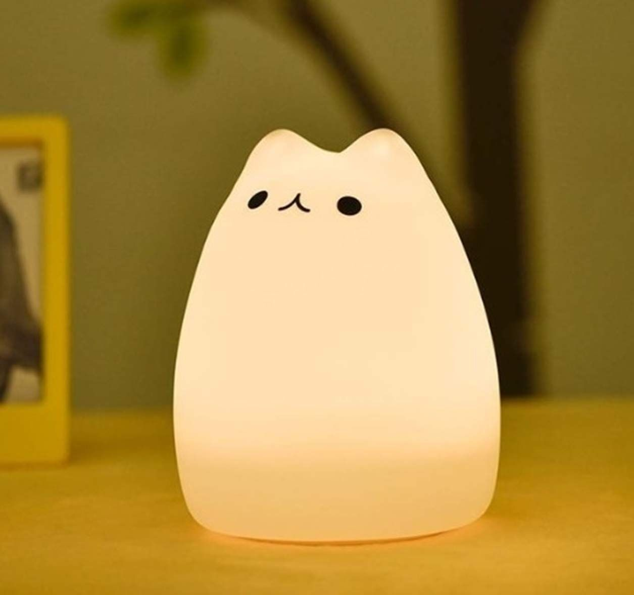 1 Set Colorful Cat Silicone Led Night Lights Touch Sensor Christmas Light Boys Lamp Rousing Fashionable Unicorn Star Bulb Cat Lamp Night Light Kids Night Light