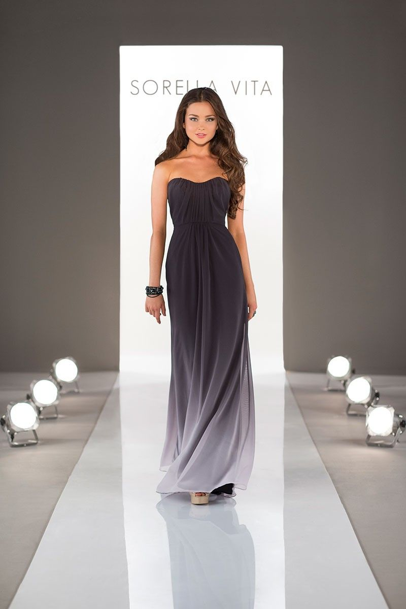 Sorella vitaus black ombre bridesmaid dress is absolutely stunning