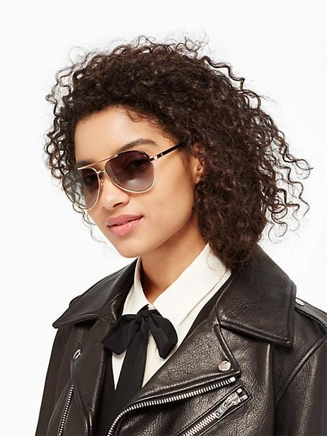 c0739b9f9 Kate Spade Amarissa Sunglasses, Palladium Black   Products ...