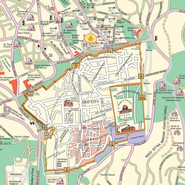 Damascus Tourist map - Old Damascus | Syria سوريه | Tourist map on