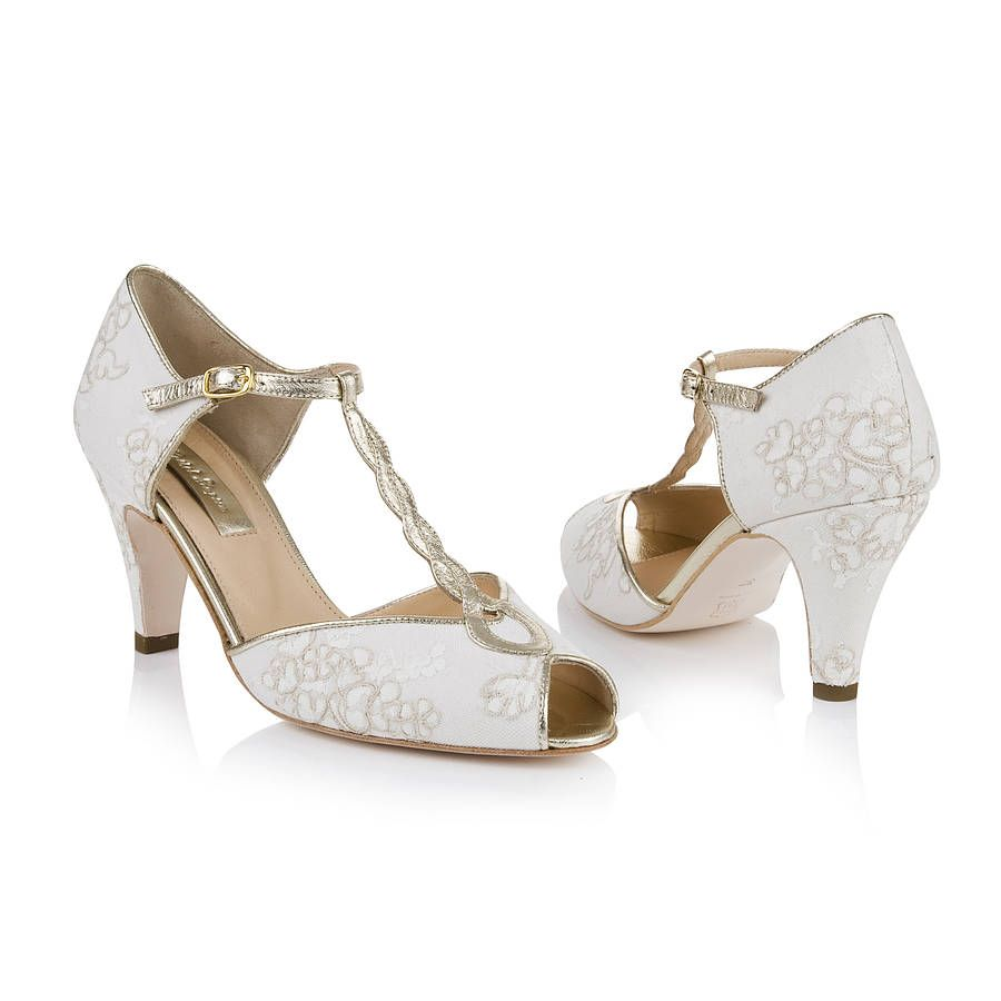 Rachel Antique Lace Peep Toe Wedding Shoes | Lace, Peeps and Antiques