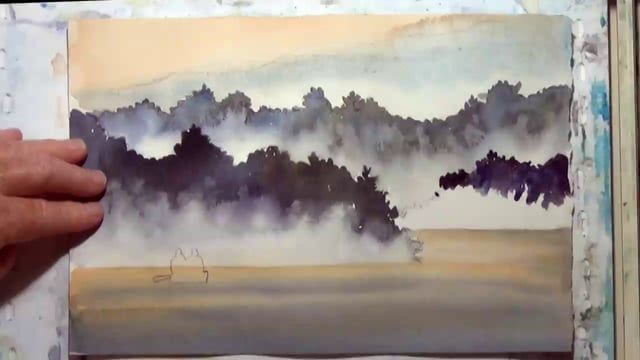 Deb Watson Demonstrates An Easy Way To Paint Believable Fog In