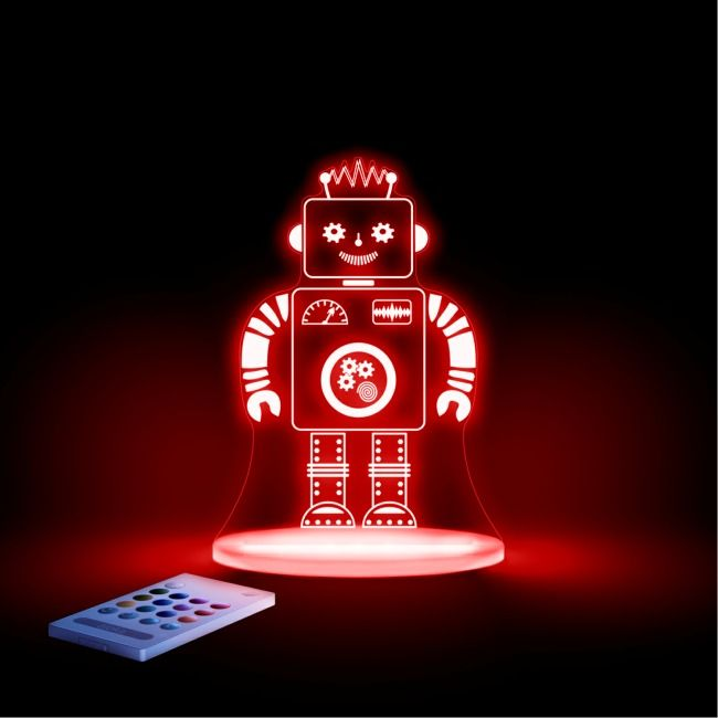 Robot LED Night light. #childrensnightlights #robotnightlight #LEDrobot #AlokaNightlight #girlsnightlights #nursery #boysnightights