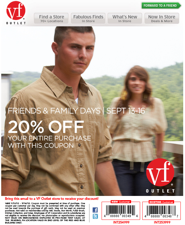 181b1c500d Vanity Fair Outlet  20% off Printable Coupon