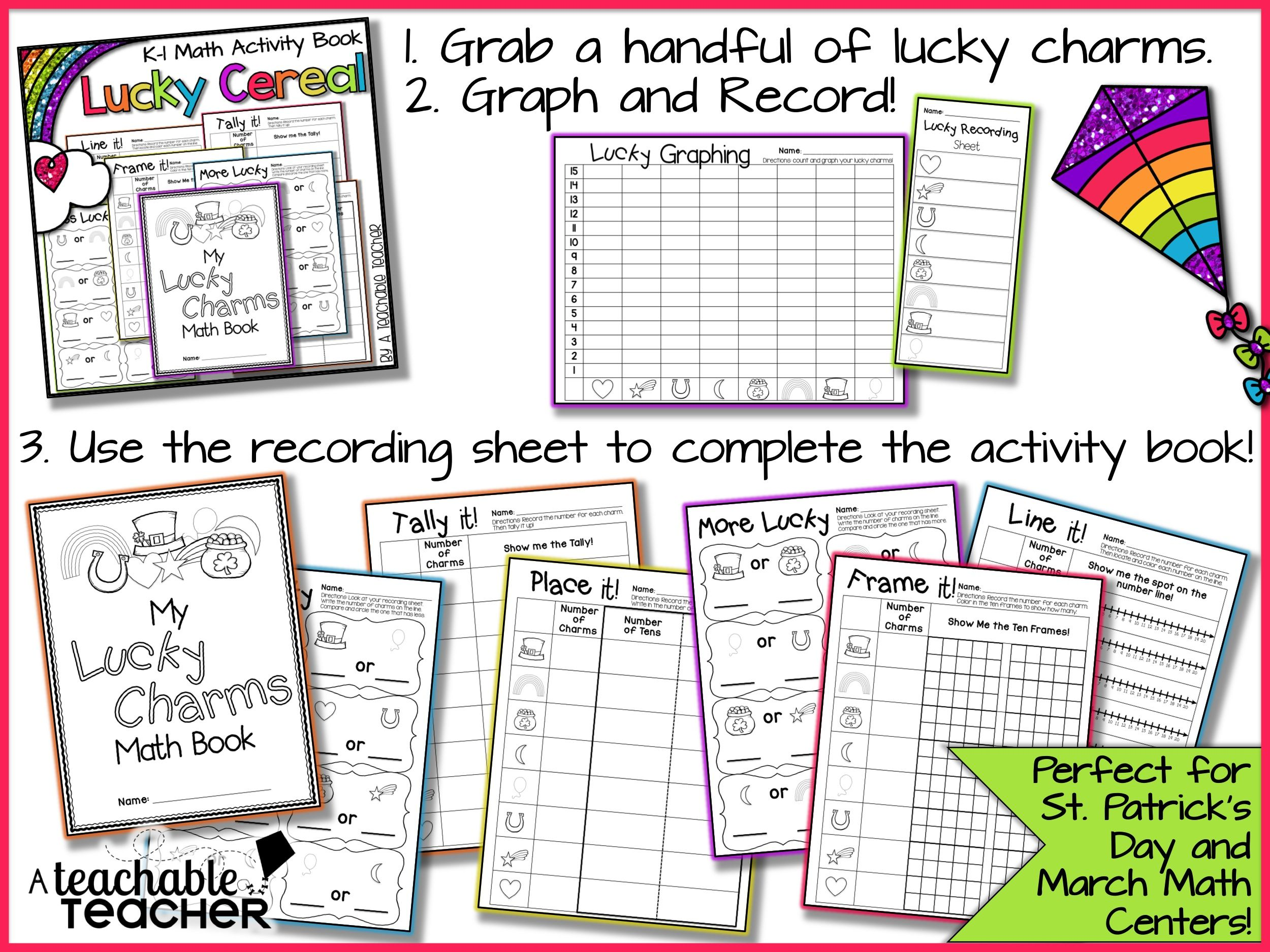 Lucky Charm Graphing Activity Extension Activities Book