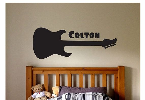 Hey, I found this really awesome Etsy listing at https://www.etsy.com/listing/246423400/guitar-name-wall-quote-sign-vinyl-decal