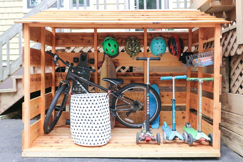 Diy Bike Storage Shed Bike Storage Backyard Bike Storage Diy